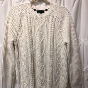 Banana Republic Cream Off White Cable Knit Sweater
